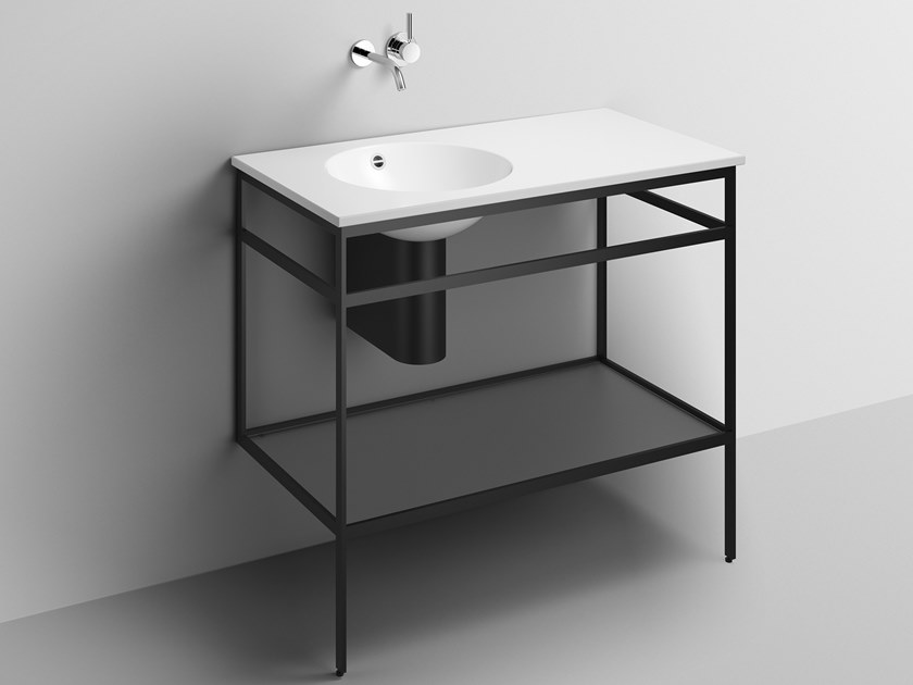 Consolle lavabo in acciaio verniciato a polvere WP.WF20.3   Consolle lavabo by Alape