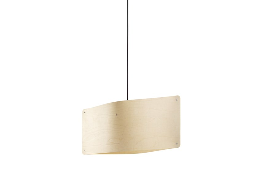 LED multi-layer wood pendant lamp WIDE PENDANT SMALL by Finom Lights
