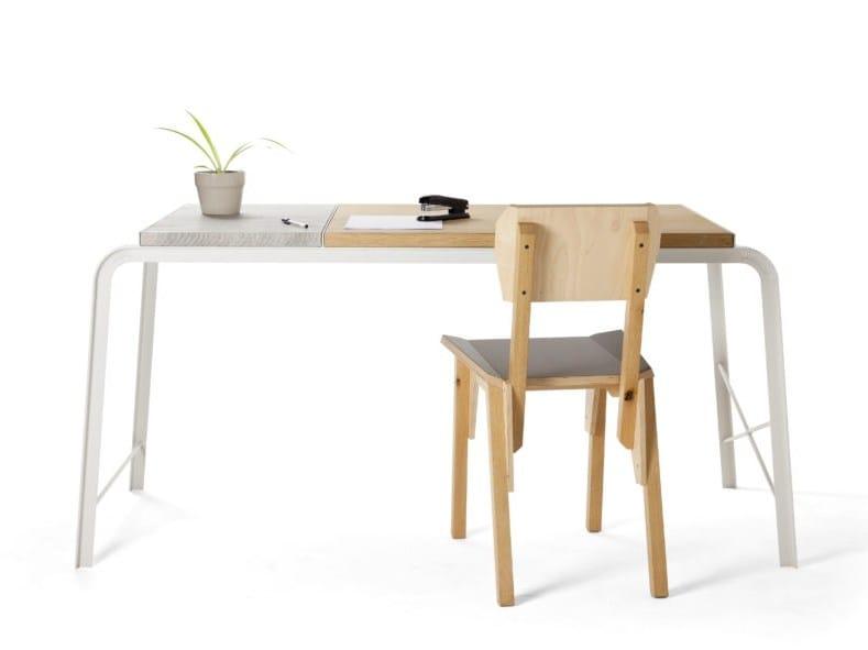 Rectangular NewspaperWood writing desk TABLOID | Writing desk by Vij5