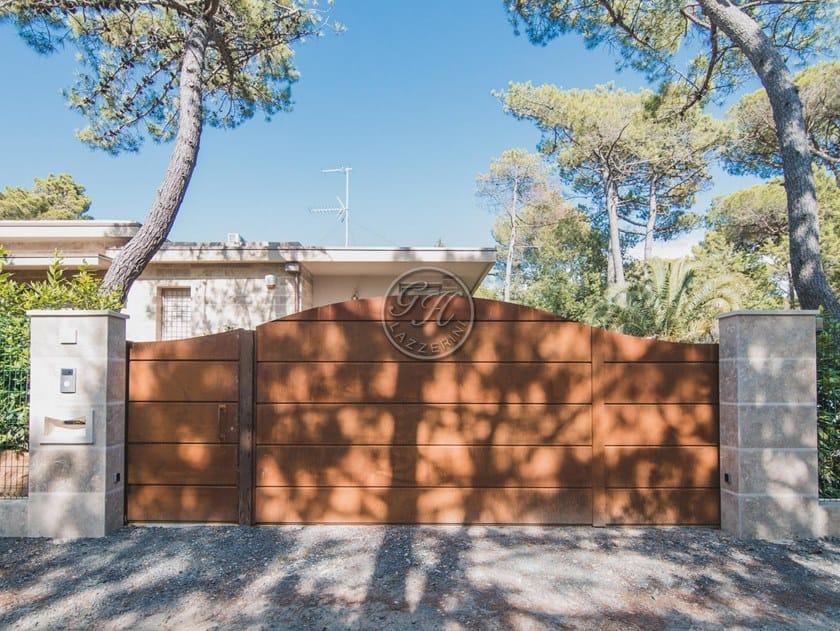 Cancello in acciaio Corten™ Cancello in corten 15 by GH LAZZERINI