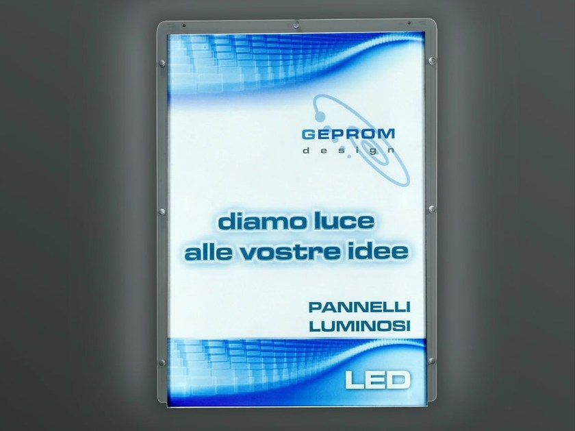 Led backlight message display stand WS-LED by GEPROM design