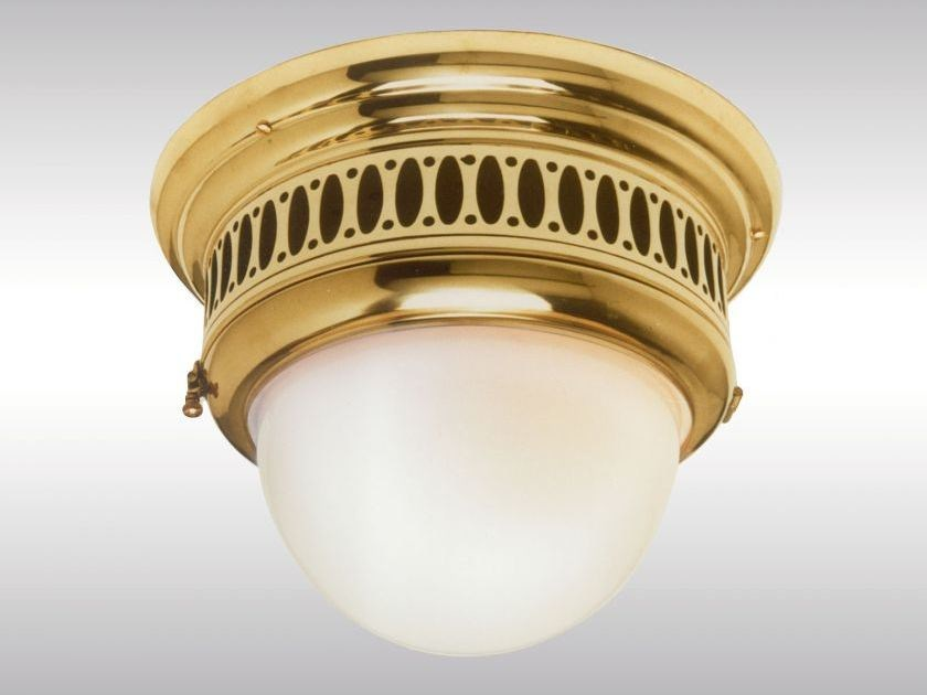 Classic style brass ceiling lamp WTR1 by Woka Lamps Vienna