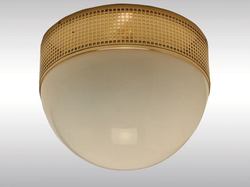 Classic style brass ceiling lamp WW3D/35 by Woka Lamps Vienna