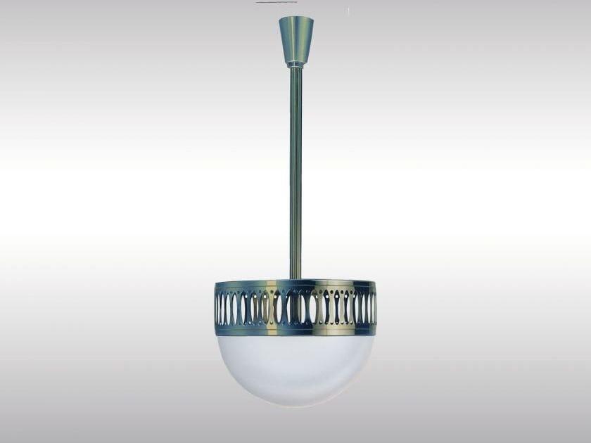 Lampada a sospensione in ottone in stile classico WW7/35ST by Woka Lamps Vienna