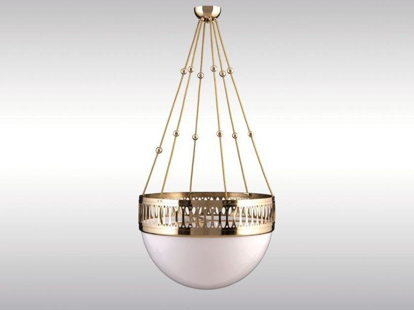 Classic style pendant lamp WW7-KABEL-KUGEL by Woka Lamps Vienna