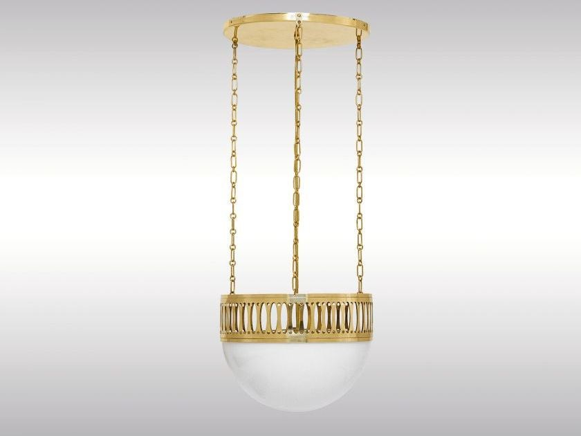 Classic style brass pendant lamp WW7a/35 by Woka Lamps Vienna