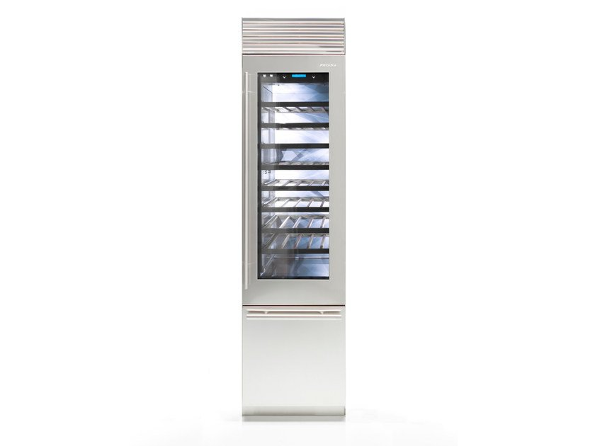 Wine cooler with glass door with built-in lights X-PRO 60 | Wine cooler by FHIABA