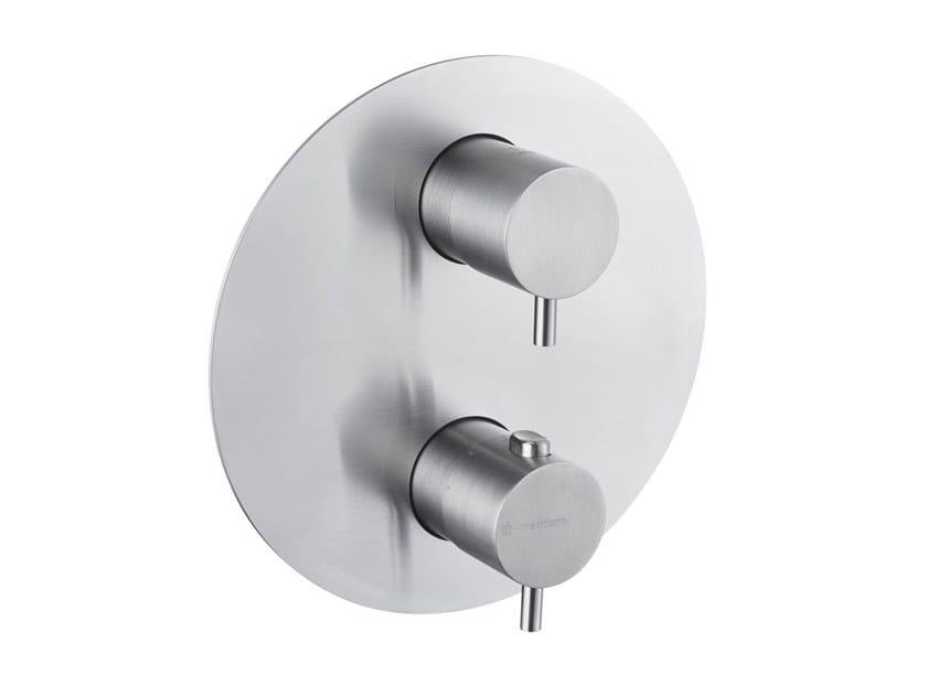Miscelatore per doccia con deviatore X-STEEL 316 | Miscelatore per doccia a 2 fori by newform