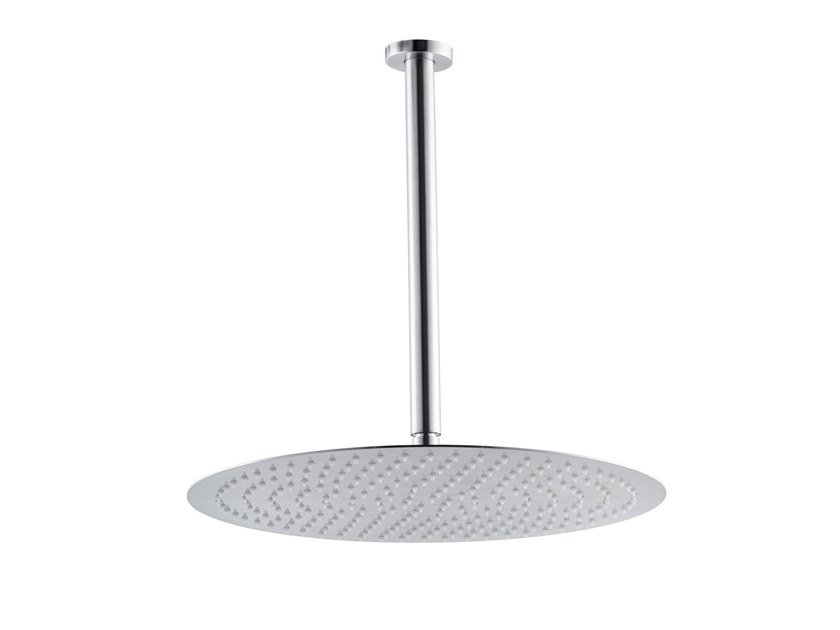 Ceiling mounted rain shower with arm X-STEEL 316 | Ceiling mounted overhead shower by newform