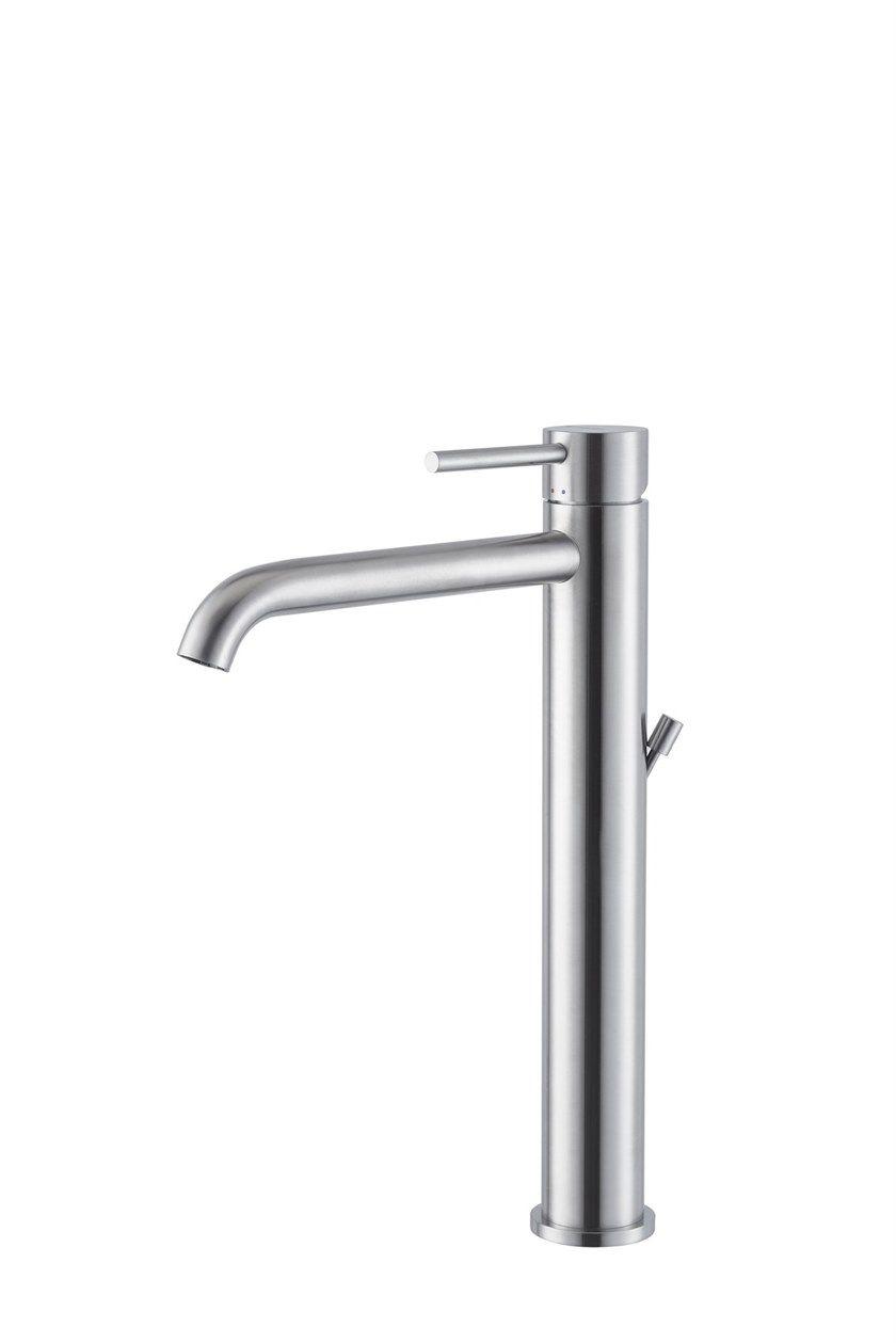 Piletta Per Lavabo Da Appoggio miscelatore per lavabo da piano con piletta x-steel 316