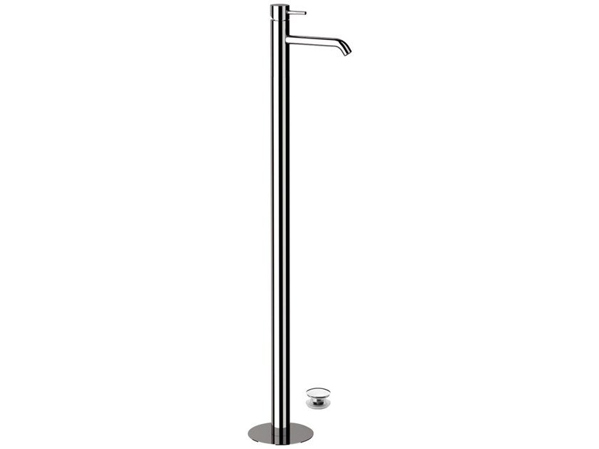 Floor standing single handle washbasin mixer X STYLE | Floor standing washbasin mixer by Remer Rubinetterie