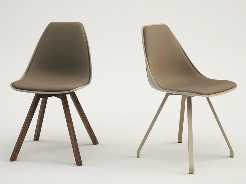 Sedia Imbottita Design : Sedia imbottita x wood soft alma design