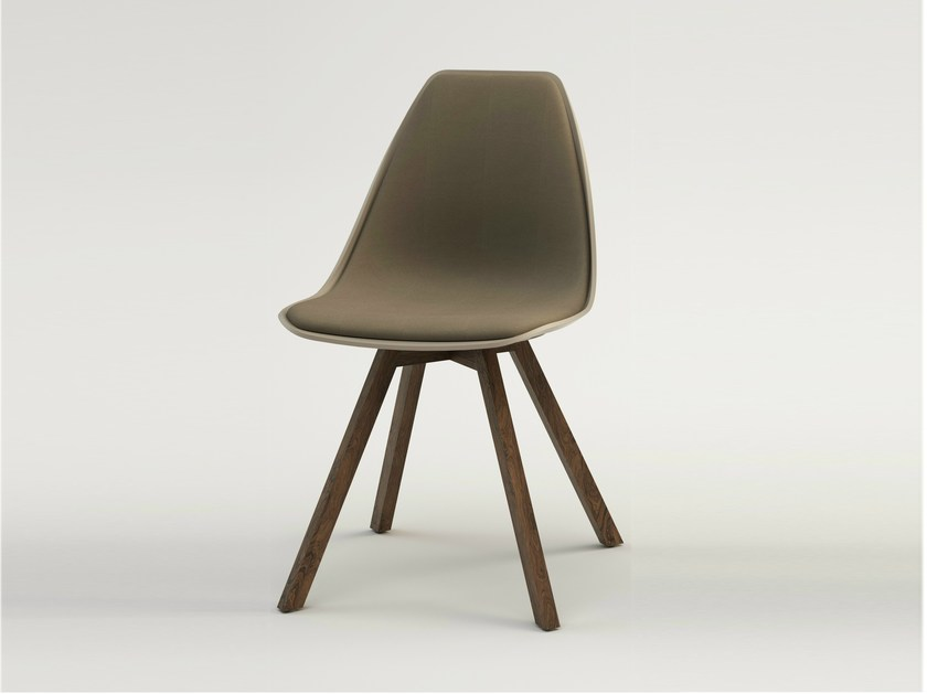 Upholstered chair X WOOD SOFT by ALMA DESIGN