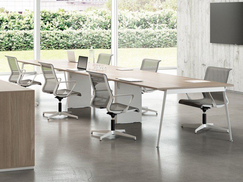 Rectangular meeting table X3 | Meeting table by Quadrifoglio