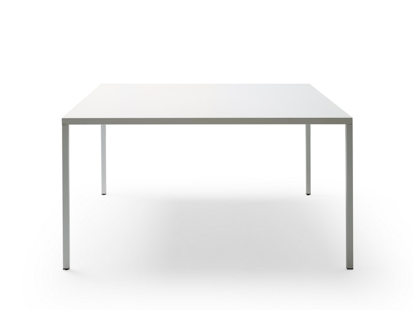 Low Square Powder Coated Aluminium Coffee Table X30 By Quinti Sedute