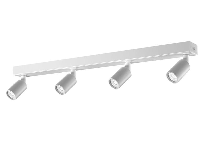 Multiple round aluminium spotlight X4 by Buzzi & Buzzi