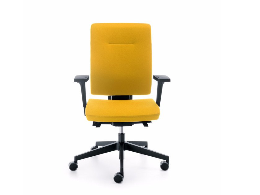 Task chair with 5-Spoke base with armrests XENON 10STL by profim