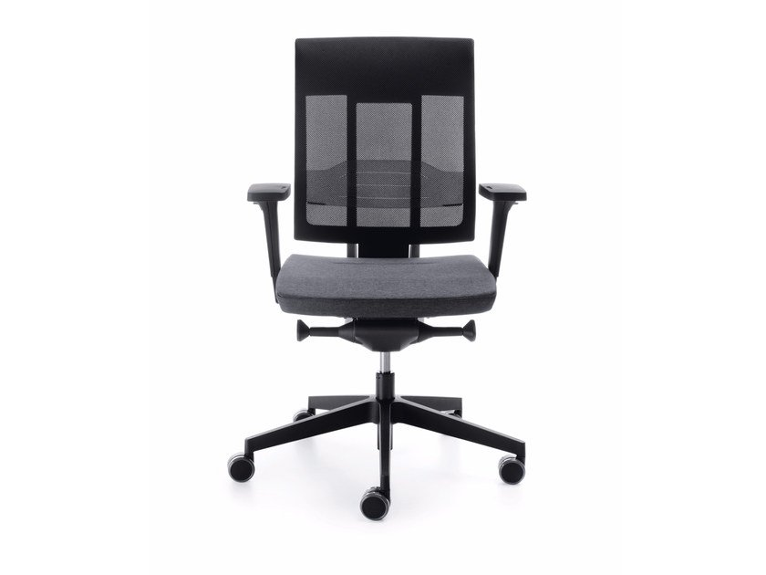 Swivel task chair with 5-Spoke base with armrests XENON NET 101SL by profim