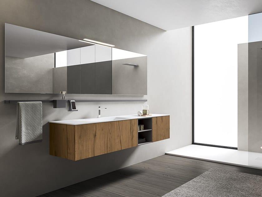 Mobile lavabo con specchio XFLY 04 by BMT