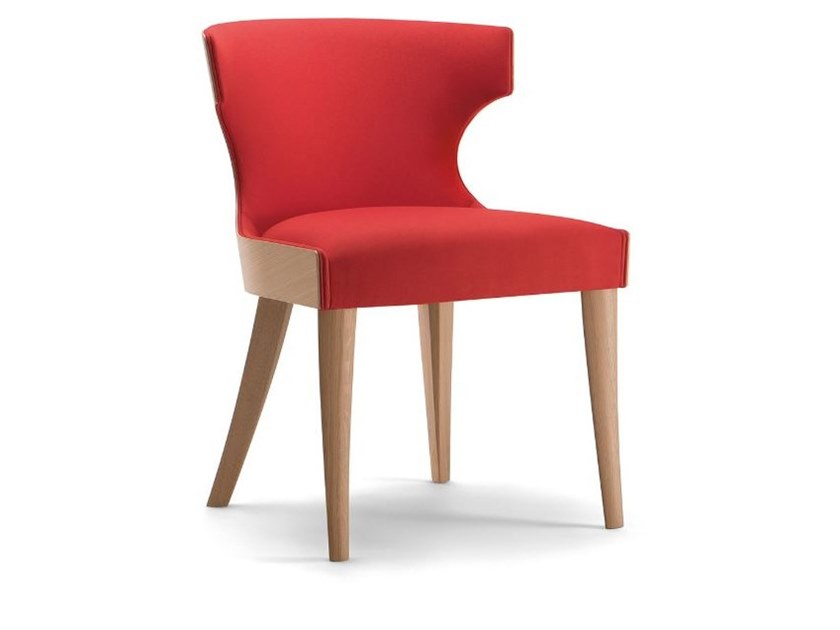 Upholstered solid wood chair XIE   Chair by Tirolo