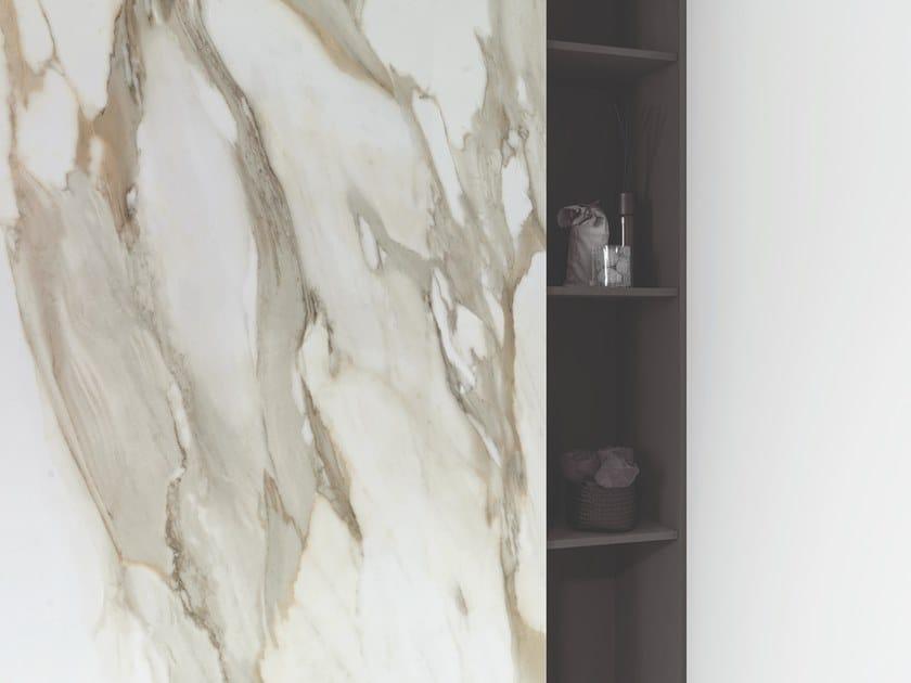 Porcelain stoneware wall/floor tiles with marble effect XLIGHT PREMIUM  AURA GOLD by URBATEK