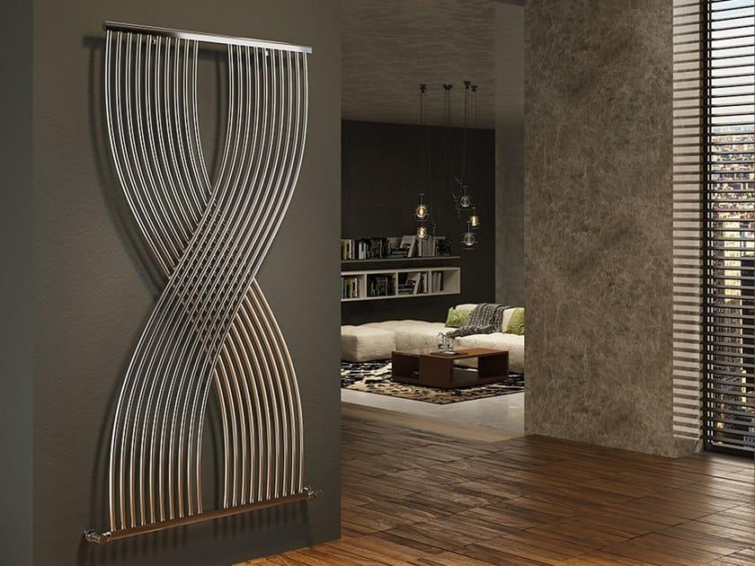 Vertical wall-mounted metal decorative radiator XÒ by XÒ by Metalform
