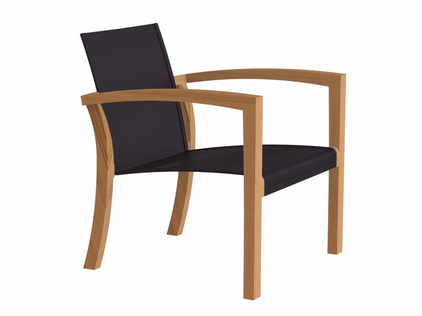 Teak garden armchair with armrests XQI | Easy chair by ROYAL BOTANIA
