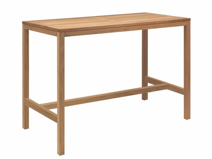 Teak high table XQI | High table by Royal Botania