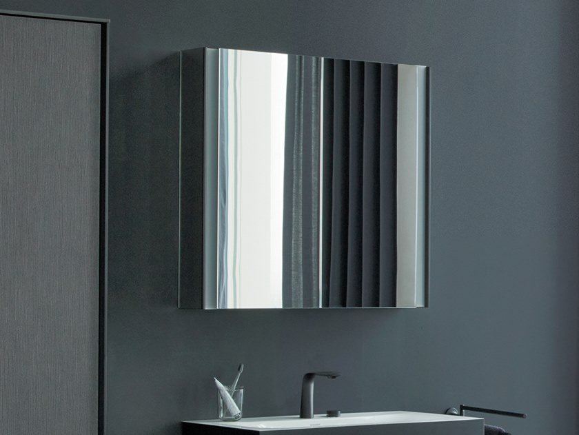 Wall-mounted mirror with cabinet XVIU | Mirror with cabinet by Duravit