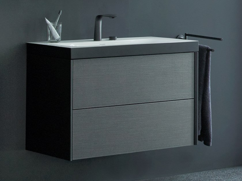 Single wall-mounted vanity unit with drawers XVIU | Single vanity unit by Duravit