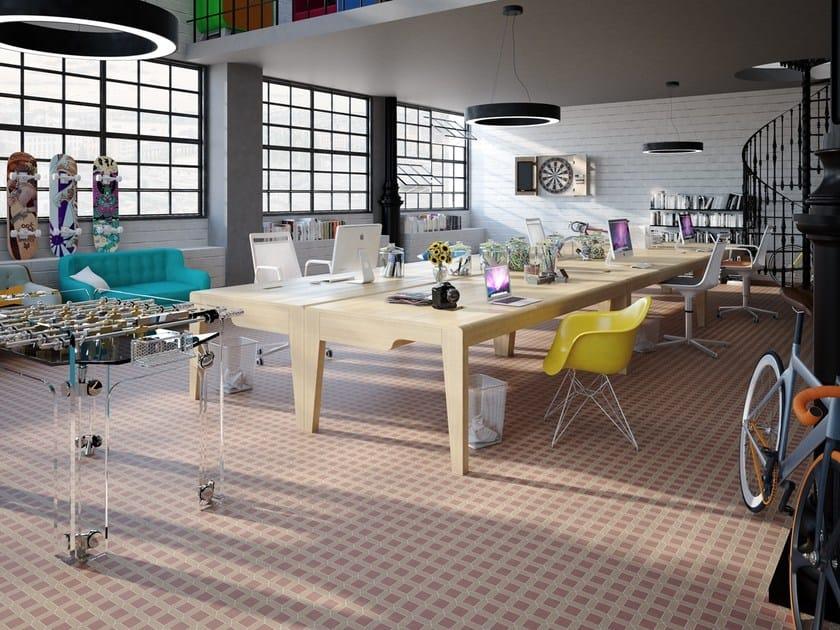 Indoor/outdoor full-body porcelain stoneware wall/floor tiles XXS - CASSETTONE by ETRURIA design