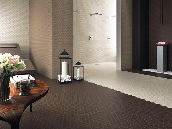 Indoor/outdoor full-body porcelain stoneware wall/floor tiles XXS - HEXAGON by ETRURIA design