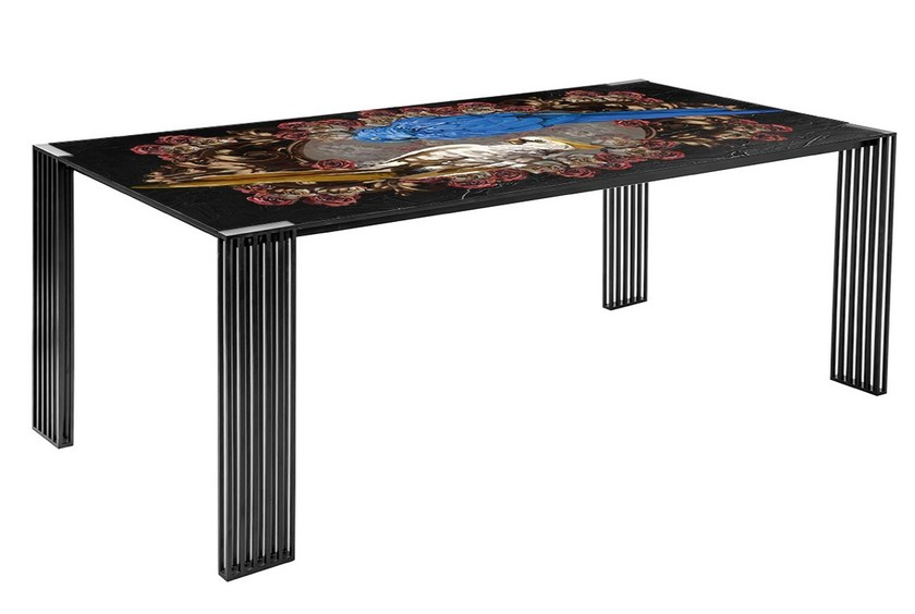 Metal dining table XY-200 by MOMENTI