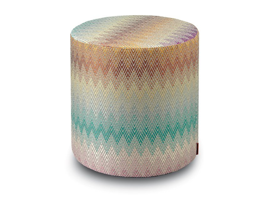 Pouf cilindro in tessuto jacquard YAMAGATA | Pouf by MissoniHome