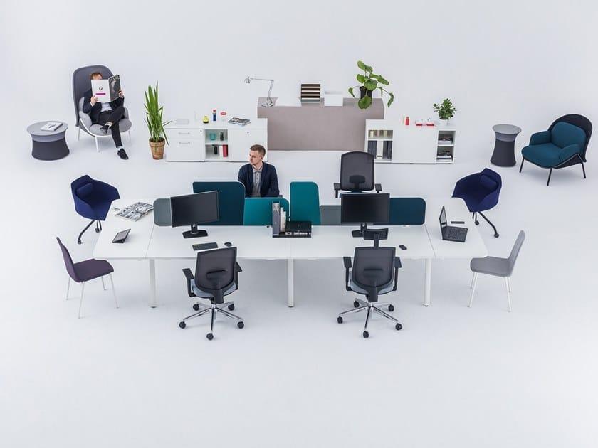 Multiple office workstation YAN_M | Multiple office workstation by MDD
