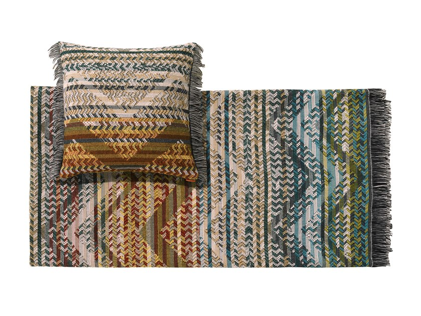 Plaid a righe jacquard in lana YANNOULIS by MissoniHome