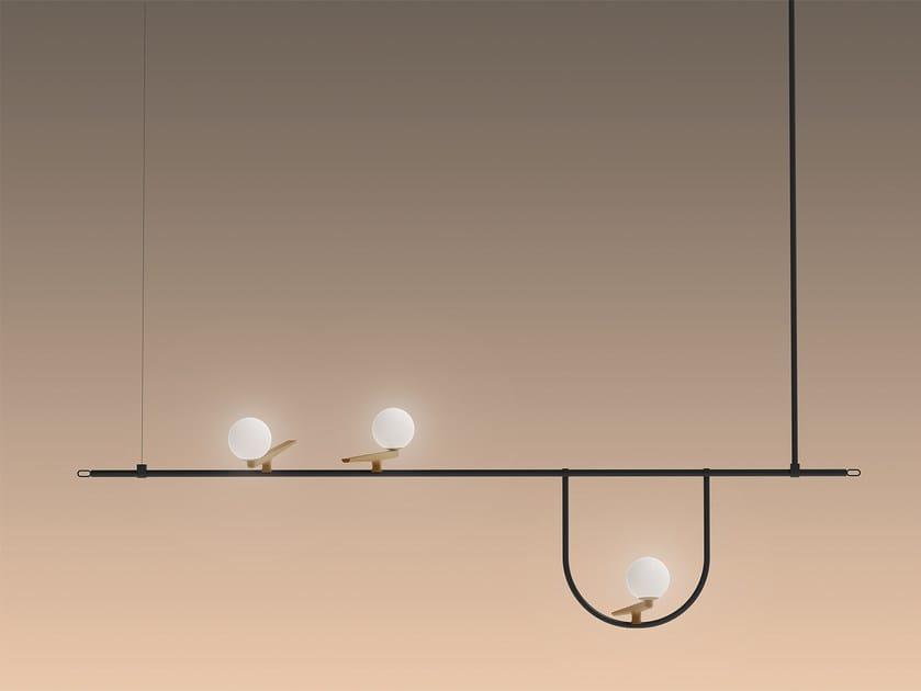 LED direct light brass pendant lamp YANZI 1 | Pendant lamp by Artemide