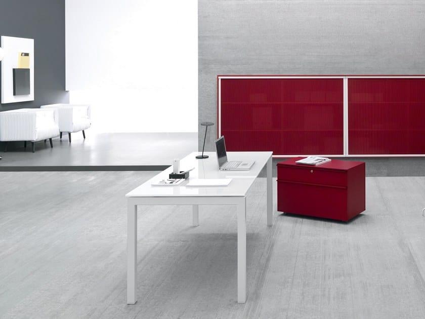 Rectangular glass office desk YARD | Rectangular office desk by Martex