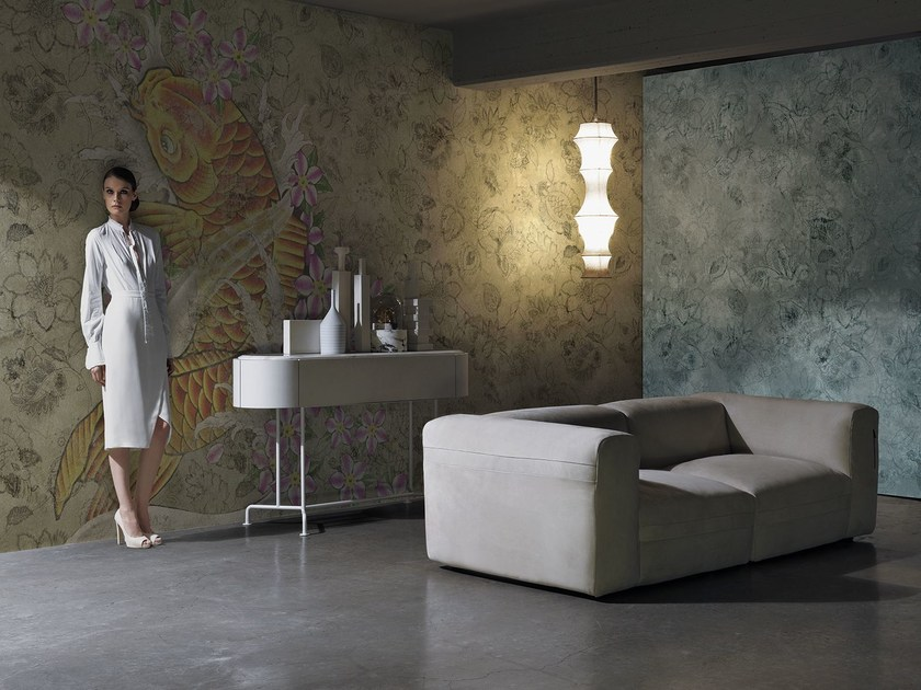 Wallpaper with floral pattern YARDBIRDS by Wall&decò