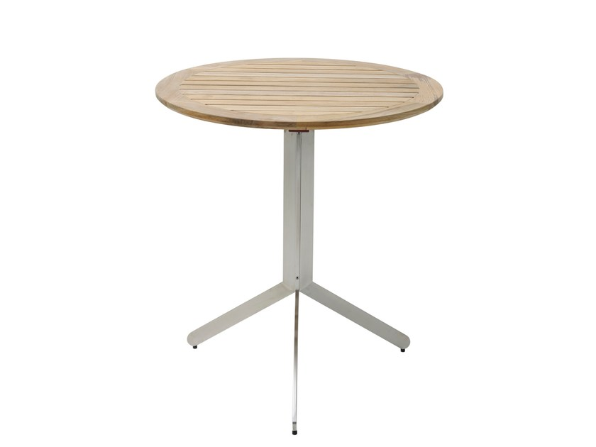 Folding teak dining table YIX | Round table by solpuri