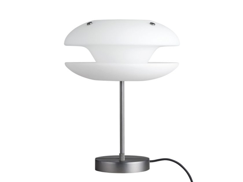 Opal glass table lamp with fixed arm YO-YO | Table lamp by NORR11