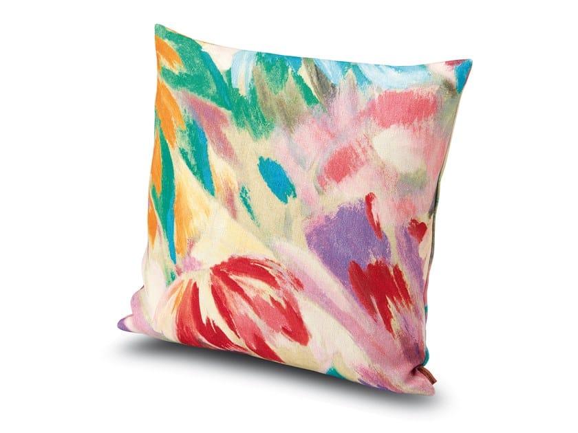 Cuscino in lino con motivi floreali YOKOHAMA | Cuscino by MissoniHome