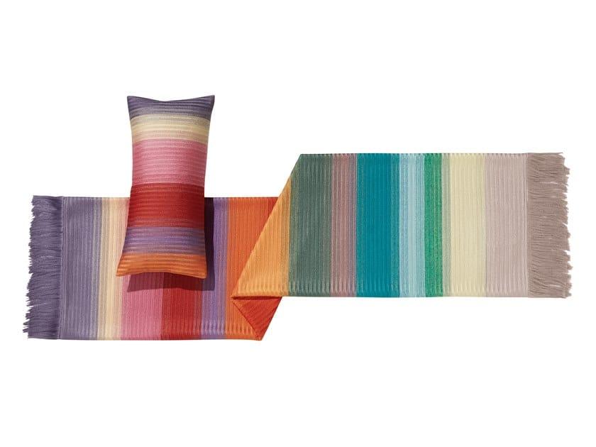 Plaid a righe multicolor ricamato YOLAN by MissoniHome
