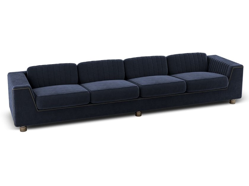 Sectional 4 seater fabric sofa YOSEMITE | 4 seater sofa by Porustudio