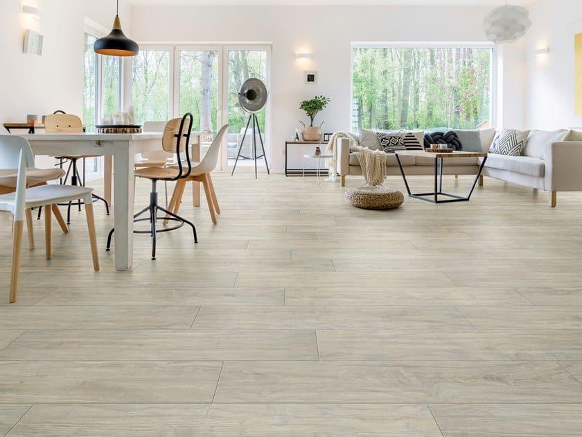 Pavimento in gres porcellanato effetto legno YOSEMITE SHELL by La Fabbrica