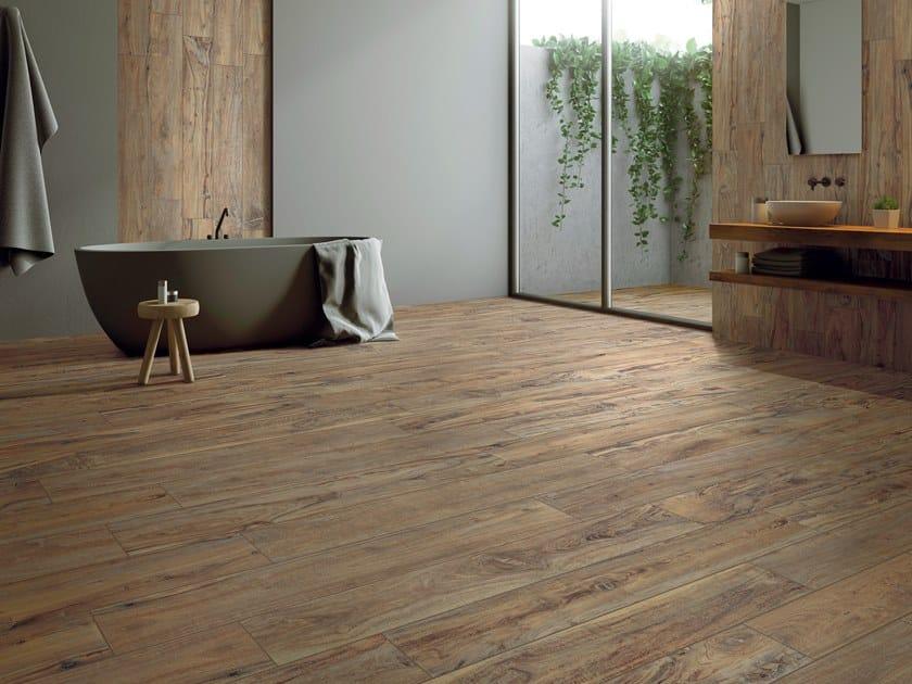 Pavimento in gres porcellanato effetto legno YOSEMITE TAN by La Fabbrica