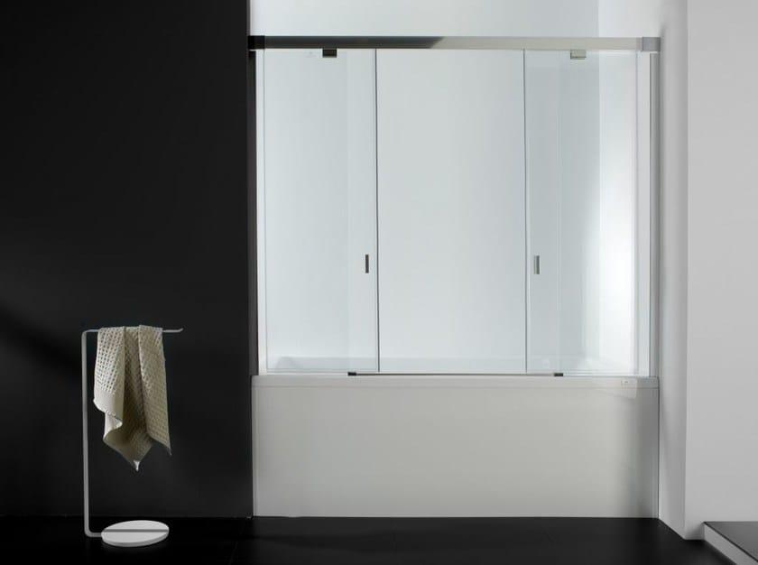 Glass bathtub wall panel YOVE 9/9B by Systempool