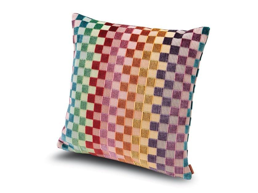 Cuscino in velluto di viscosa a micro quadretti multicolori YUGAWARA by MissoniHome