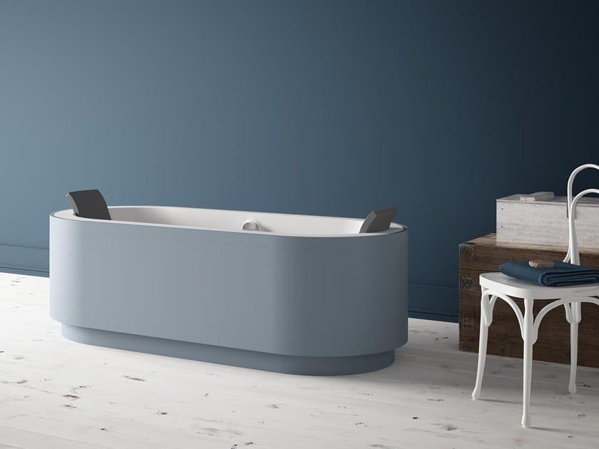 Vasca da bagno centro stanza ovale in Kcryl YUMA C by Karol