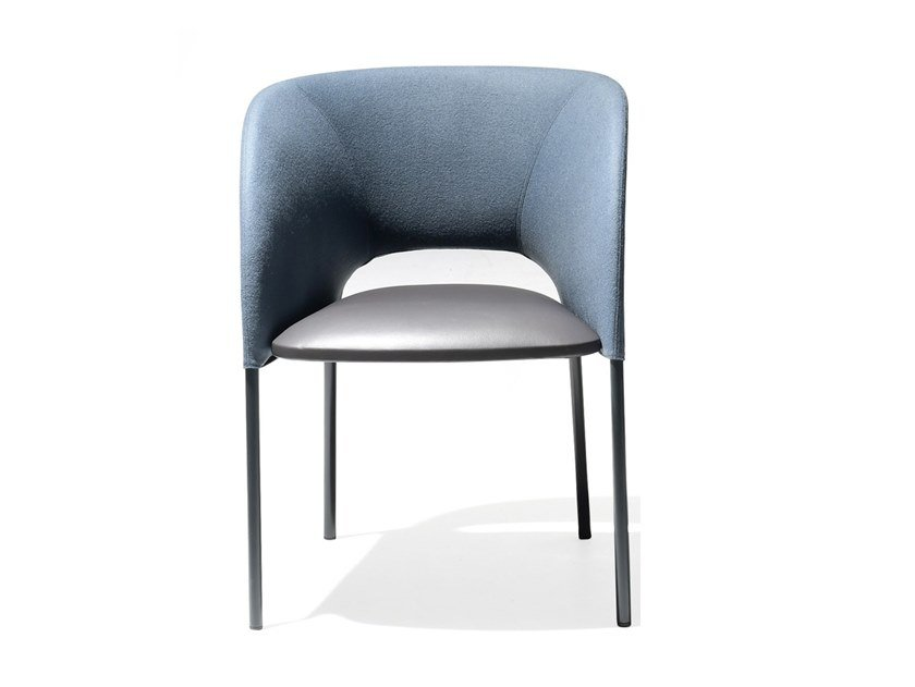 Upholstered chair with armrests YUMI | Upholstered chair by Moroso